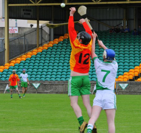 Action from the senior hurling league game against MacCumhaill's.