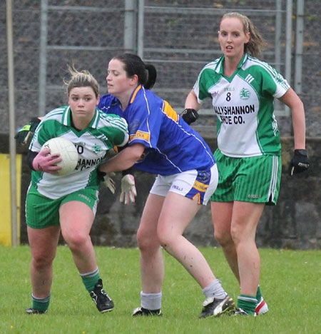 Action from the ladies senior match between Aodh Ruadh and Kilcar.