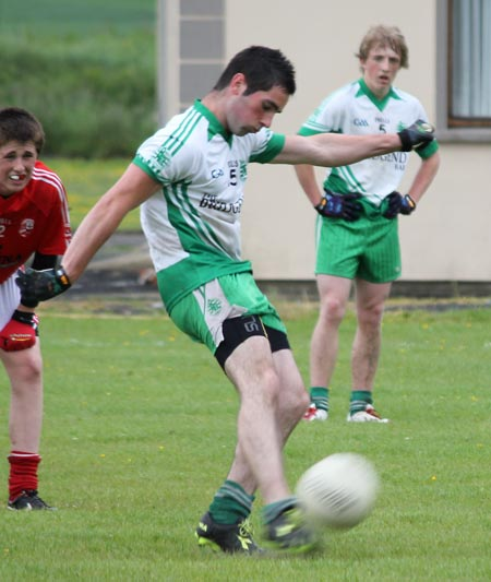 Action from the reserve division 3 senior game against Naomh Colmcille.
