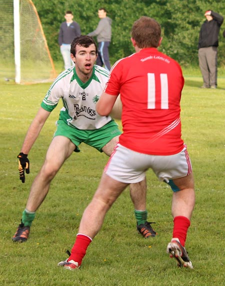 Action from the division 3 senior game against Naomh Colmcille.