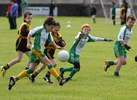 Action from the under 8 blitz in Father Tierney Park.