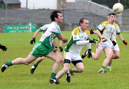 Action from the intermediate championship game against Buncrana.