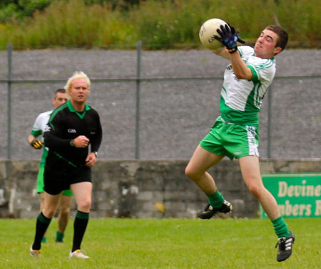 Action from the intermediate reserve championship game against Buncrana.