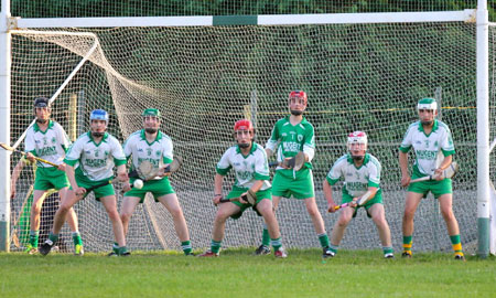 Action from the minor hurling championshiop game against Burt.