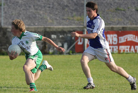 Action from the division 3 senior reserve game against Fanad Gaels.