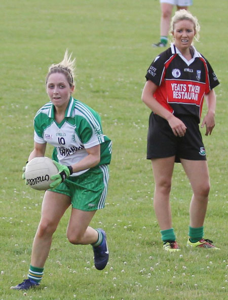 Action from the ladies senior match between Aodh Ruadh and Drumcliffe Rosses Point.
