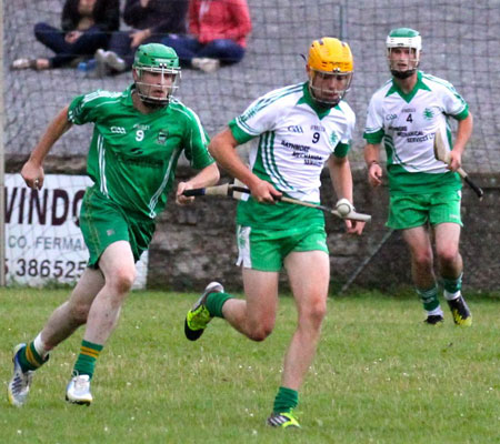 Action from the senior hurling championship game against MacCumhaill's.