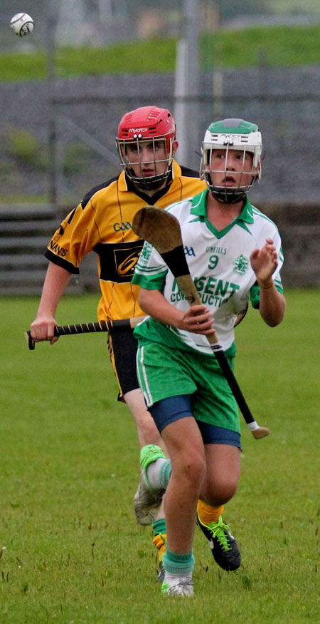 Action from the under 16 clash between Aodh Ruadh and Saint Eunan's.