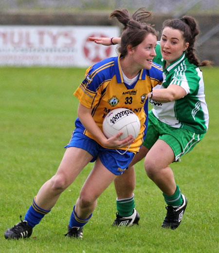 Action from the ladies senior match between Aodh Ruadh and Glencar Manorhamilton.