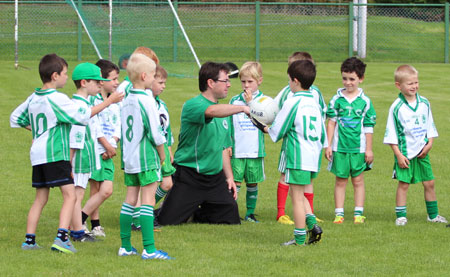 Action from the under 8 blitz in Saint Naul's.