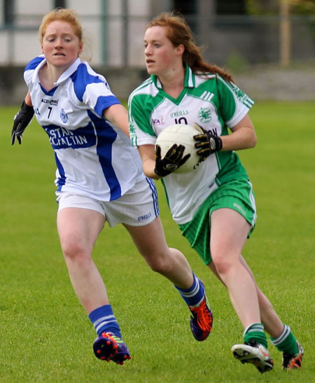 Action from the ladies senior championship match between Aodh Ruadh and Glencar Manorhamilton.
