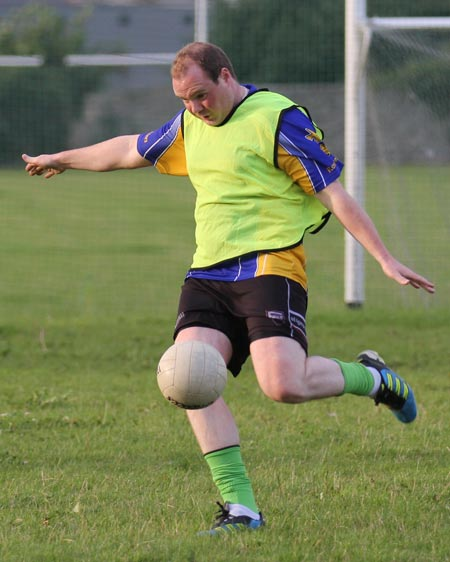 Action from the recreational football.