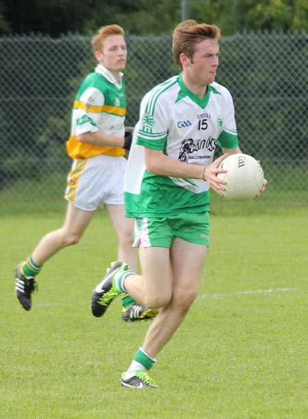 Action from the intermediate championship game between Aodh Ruadh and Buncrana.