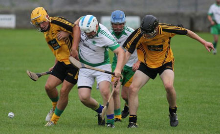 Action from the senior clash between Aodh Ruadh and Saint Eunan's.