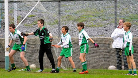 Action from the under 13 league game between Aodh Ruadh and Bundoran.