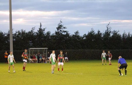 Action from the under 21 B Championship game between Aodh Ruadh and Carndonagh.