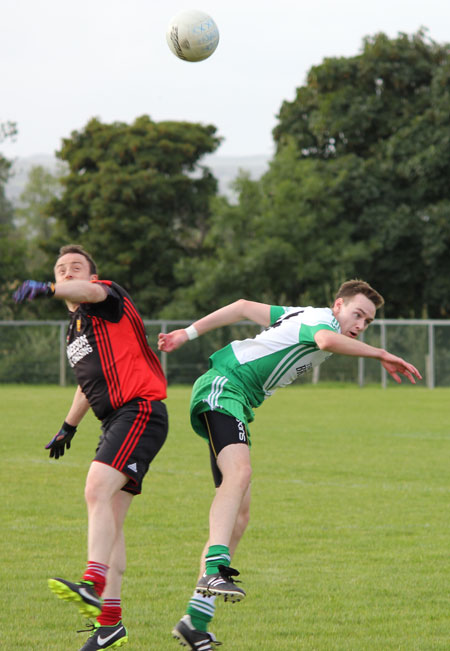 Action from the division three reserve league game between Aodh Ruadh and Red Hugh's.