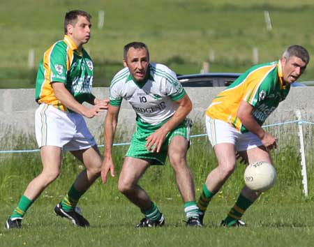 Action from the reserve division 3 senior game against Naomh Bríd.