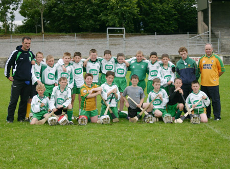 The Aodh Ruadh under 12 pnael with manager Peter Horan and mentors John Rooney and Eddie Lynch.