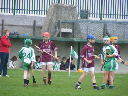 Goalmouth action from Aodh Ruadh v Letterkenny Gaels.