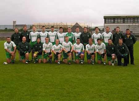 The Aodh Ruadh team that defeated Cloughaneely to progress to the quarter final stage of the senior football championship.