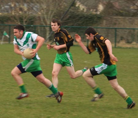 Division 2 action between the Aodh Ruadh v MacCumhaill's reserves.