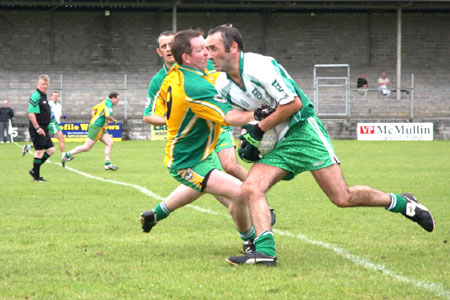 Action from Aodh Ruadh v Downings game.