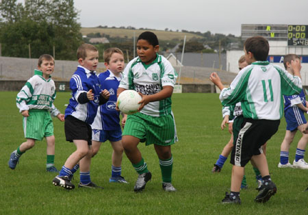 Action from the Aodh Ruadh v Dromore under 8 blitz.