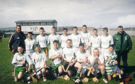 The winning McCumhaill's team in the Alan Ryan hurling tournament.
