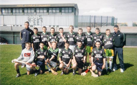 The U16 hurling Setanta team who won the Seamus Grimes memorial trophy.