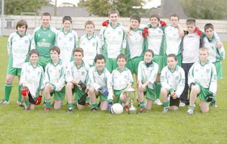 Ryan Granaghan's team which won the 2008 Bakery Cup. Back row: Daniel McIntyre, Conor McNeely, Darren Gettins, David McGurrin, James Barron, Charlie Patton, Kieran Storey, James Kelly, Ryan Granaghan, Jamie McDonald. Front row: Colm Kelly, Matthew Maguire, Thomas Anderson, Gareth Ferguson, Daniel Warnock, Dominic Boyle, Jamie Campbell, Ryan Gillen.