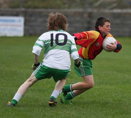 Action from the Bakery Cup final.