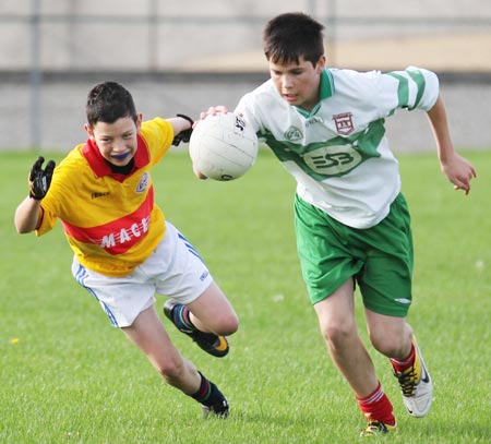 Action from the 2011 Bakery Cup final.