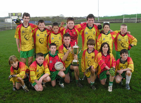 Ronan McGurrin's team which won the Bakery Cup final. Back row (l-r), Conor Patton, Eamon McGrath, Adam Irwin, Donagh McInerney, Martin Gallagher, Ois�n Roper, John Ward. Front row, Conor Patton, Kevin Warnock, Patrick Dixon, Ronan McGurrin, Matthew Gettins, Dominic Boyle, Michael McNeely.