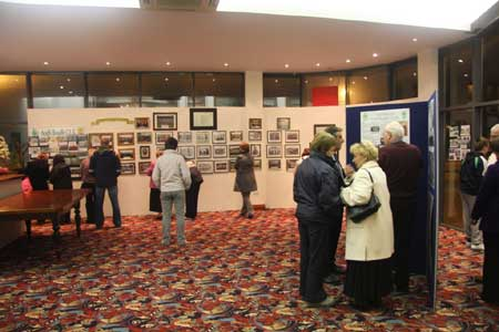 Taking in the display of Aodh Ruadh history in the Abbey Centre.