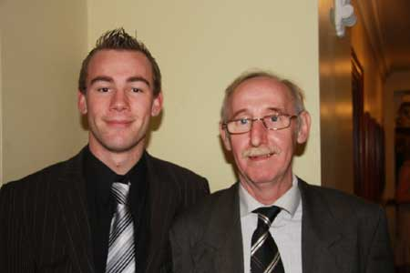 Peter Boyle, 2009 county minor goalkeeper, pictured with father, Louie.