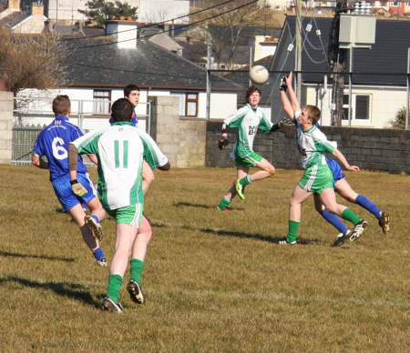 Action from the Aodh Ruadh v Four Masters challenge match.