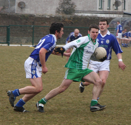 Action from the Aodh Ruadh v Galbally challenge match.