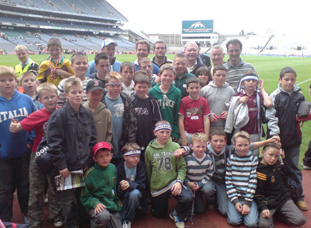 Aodh Ruadh underage hurlers enjoyed a great trip to Croke Park on Sunday, 29th July, to watch the All-Ireland hurling quarter finals. The boys were treated to two very exciting games with Limerick beating Clare and Waterford drawing with Cork. Thirty players traveled and they even got their photograph taken on the hallowed turf after the action had finished.