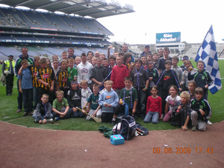 On the hallowed turf of Croke Park.