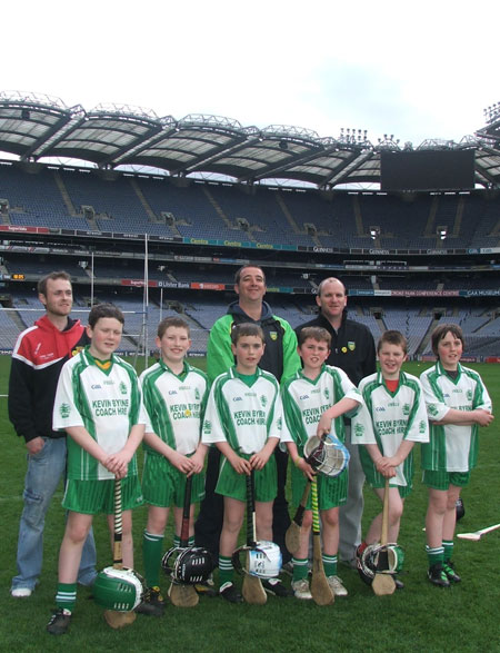 Aodh Ruadh under 12s at Croke Park.