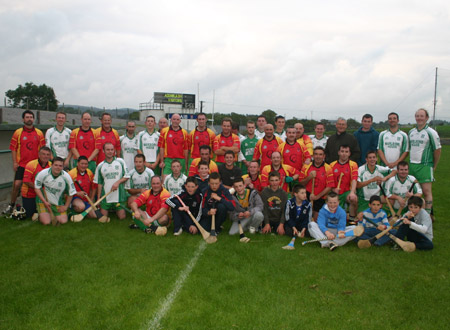Old Timers and Young Guns who took part in the Dennis Doherty farewell game.