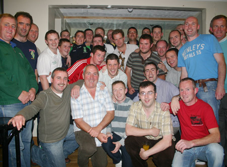 Some of those who attended Dennis Doherty's farewell evening in Max Bar.