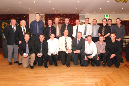 The Aodh Ruadh third team which won back-to-back Division 4 titles were presented with their medals on the night.