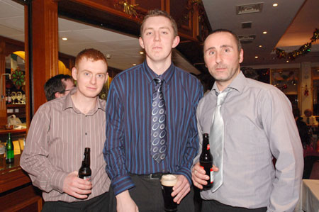 John Roper, Joe Mullaney and Dermot Slevin enjoying the Dinner Dance.