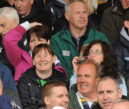 Ballyshannon fans at the championship opener against Antrim.