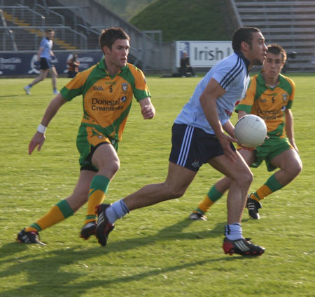 Action from the Donegal v Dublin under 21 All-Ireland final.