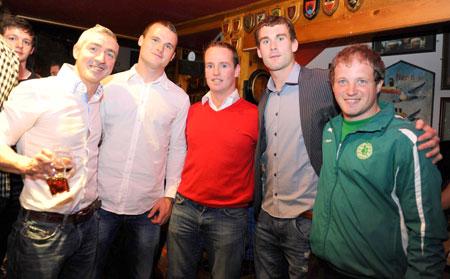 Donegal players visit Se�n Óg's.