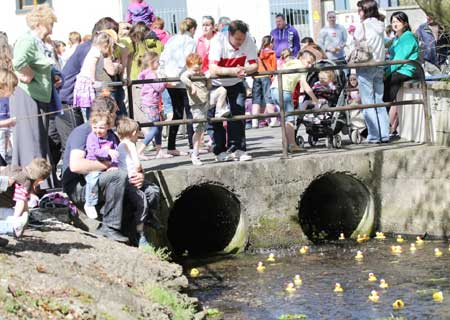 Action from the 2011 Duck Race.