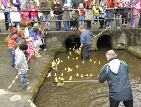 Action from the 2012 Duck Race.